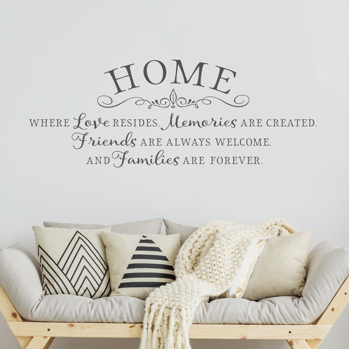 Home is where love resides - Inspiring wall decal - home quotes