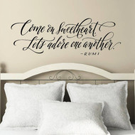 Come on Sweetheart - Wall Decal