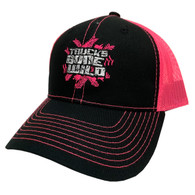 Trucks Gone Wild Logo Hat Pink/Black