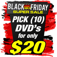 You Pick - 10 DVDs for $20