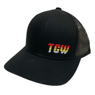 TGW Multi Color Letter Logo Hat Black