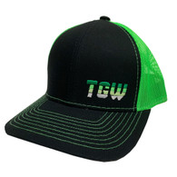 TGW Multi Color Letter Logo Hat Green