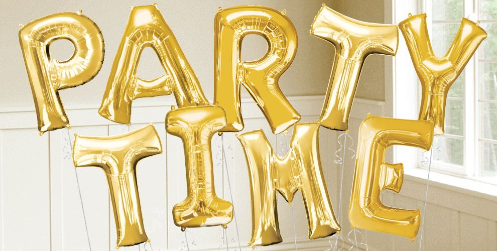 Big Gold Letter Balloons 34