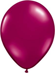 "11"" Qualatex Jewel Sparkling Burgundy 100ct"
