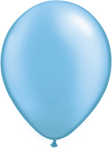 "11"" Qualatex Pearl Azure Latex Balloons 100ct #43768"