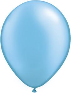 "11"" Qualatex Pearl Azure Latex Balloons 100ct #43768"