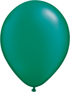 "11"" Qualatex Pearl Emerald Green Latex Balloons 100ct #43772"