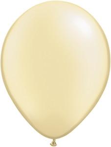"11"" Qualatex Pearl Ivory Silk Latex Balloons 100ct #43775"