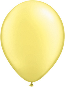 "11"" Qualatex Pearl Lemon Chiffon Latex Balloons 100ct #43776"