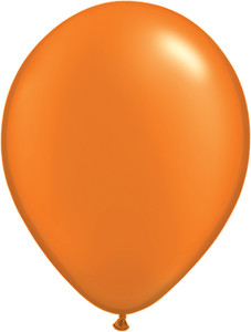 "11"" Qualatex Pearl Mandarin Orange Latex Balloons 100ct #48959"