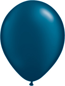 "11"" Qualatex Pearl Midnight Blue Latex Balloons 100ct #43780"