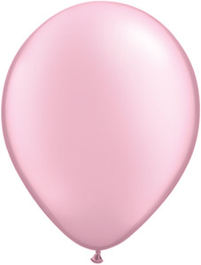 "11"" Qualatex Pearl Pink Latex Balloons 100ct #43783"