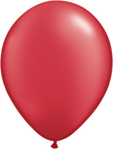 """11"""" Qualatex Pearl Ruby Red Latex Balloons 100ct #43785"""