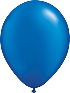 "11"" Qualatex Pearl Sapphire Blue Latex Balloons  100ct #43786"