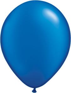 "11"" Qualatex Pearl Sapphire Blue Latex Balloons  100ct #43786"
