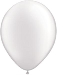 "11"" Qualatex Pearl White Latex Balloons 100ct #43788"