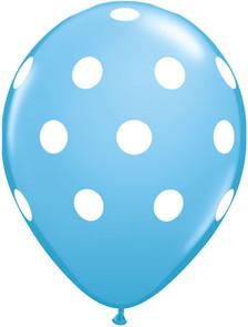 polka dot pale blue  balloons