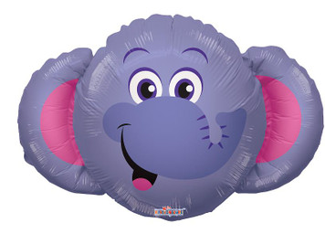 "14"" Mini Elephant Shape Foil Air Fill Balloon 1ct"