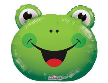 "14"" Mini Frog Air Fill Foil Balloon 1ct"