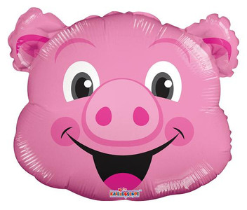 "14"" Mini Pig Foil Air Fill Balloon 1ct"