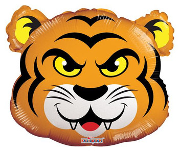 "14"" Tiger Mini Shape Foil Balloons 1ct"