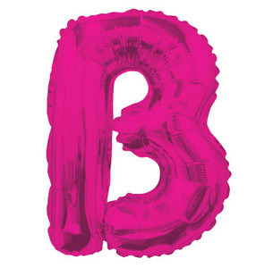 "14"" Mini Hot Pink Letter B Self Sealing"