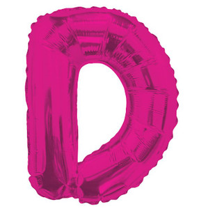 "14"" Mini Hot Pink Letter D Self Sealing"