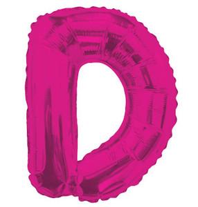 "14"" Mini Hot Pink Letter D Self Sealing"