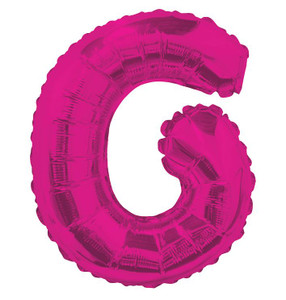 "14"" Mini Hot Pink Letter G Self Sealing"