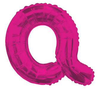"14"" Mini Hot Pink Letter Q Self Sealing"