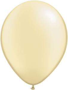 pearl ivory silk balloons
