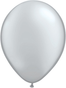 "16"" Qualatex Metallic Silver 50ct #43901"
