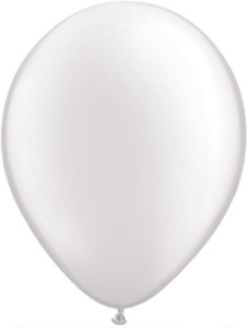 "16"" Qualatex Pearl White 50ct"