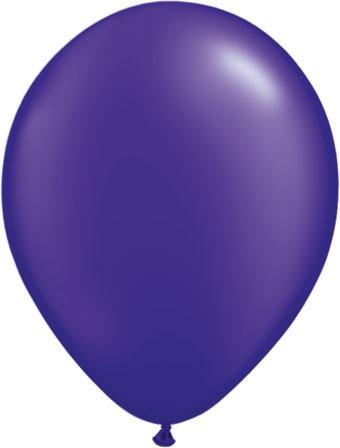 pearl quartz purple latex balloons