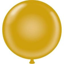 "17"" Tuf-Tex Metallic Gold Latex Balloons 72ct #11731"