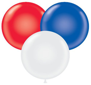 "17"" Tuf-Tex Patriotic Color Balloons 72 Bag #11743"