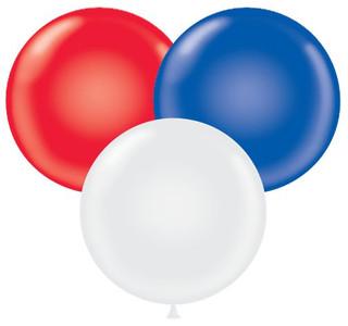 """17"""" Tuf-Tex Patriotic Color Balloons 72 Bag #11743"""