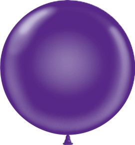 "17"" Tuf-Tex Purple Latex Balloons 72ct #11717"