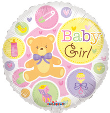 "Baby girl balloons 18"" mylar  baby girl balloons great for baby shower balloons"