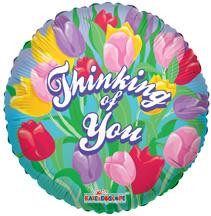 "18"" Thinking Of You Tulips Balloon (5 Pack) #17751"