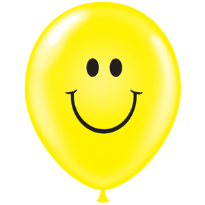 "17"" TUF TEX Latex Balloon Smiley 50ct #17808"