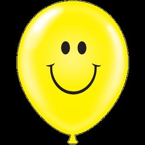 """17"""" TUF TEX Latex Balloon Smiley 50ct #17808"""