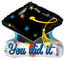 you did it graduation balloons
