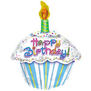 "20"" Happy Birthday  Cupcake Shape Balloon (5 PACK) #414018"