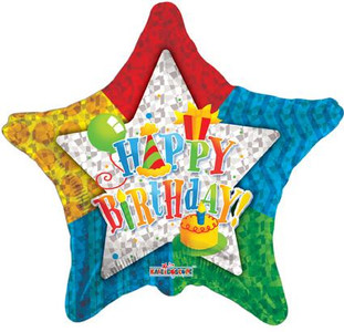 "19"" Pattern Star Birthday 1ct #17969"