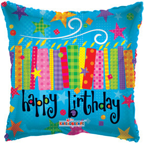 """19"""" Square Birthday Helium Foil Balloon (5 PACK)#17720"""