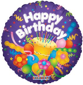 "18"" Birthday w/ Cake 1ct #17721"