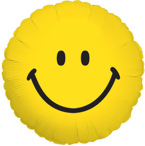 """18"""" Smile Face Helium Foil Balloon  (5 Pack) #22757"""