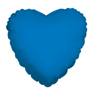 "18"" Metallic Blue Heart Foil Balloon (5 PACK)#34101"