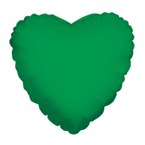 green heart balloons